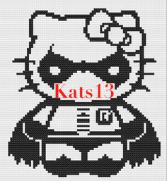 hello Kitty robbin cross stitch