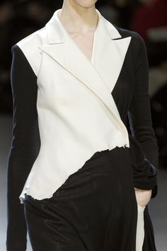 Raw hem jacket, deconstructed fashion details // Yohji Yamamoto Fall 2008