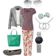 """Flower pants"" by jossiebristow on Polyvore"