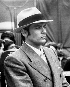 Alain Delon wearing a Borsalino Marcel, Borsalino Hats, Advertising Pictures, Hat For Man, Hat Men, French Man, Actor James, Jean Luc Godard, Jake Paul