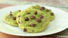 Mint Chocolate Chip Cookies | JavaCupcake.com