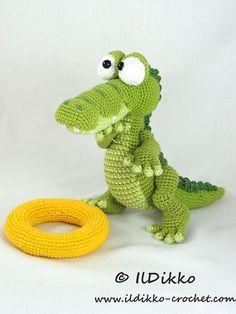 Conrad the Crocodile amigurumi crochet pattern by IlDikko