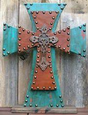 Zebra Stacked Crosses   swestern wooden cross