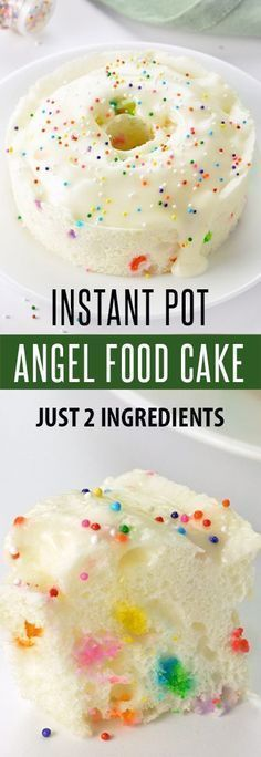 With just a box of Angel Food Cake and water you can churn out a light, airy and moist Angel Food Cake using just the Instant Pot.