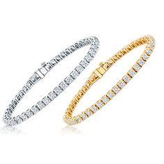1 Carat Diamond Tennis Bracelet in 10K White Gold or Yellow Gold