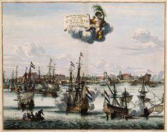Victory over Kochi on the coast of MalabarPubliek domein. Coenraet Decker (ca. 1650–1685) - Atlas van der Hagen.