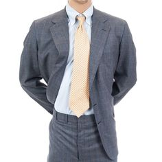 New Hickey Freeman Suit 2 pc Canterbury Plaid 44L Mens Blazer Pants Wool Gray #HickeyFreeman #TwoButton #MensSuit #SomeLikeItUsed