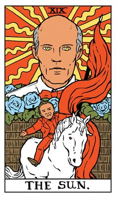 """The Sun Twin Peaks Tarot Card by Benjamin Mackey. """"Where we're from, the birds sing a pretty song and there's always music in the air."""""""