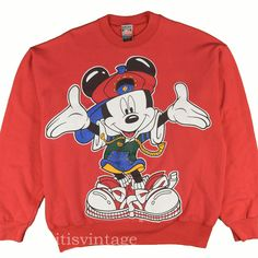 Women's Clothing Mickey Mouse Disney Unlimited Sweater Womens Size M Sales Of Quality Assurance