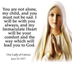 Message from Our Lady of Fatima. Catholic Beliefs, Catholic Quotes, Catholic Prayers, Religious Quotes, Catholic Healing Prayer, Spiritual Prayers, Catholic Saints, Roman Catholic, Mother Mary Quotes