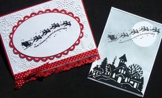 Stampin' Up! Santa With Reindeer, Santa Sleigh, Christmas 2017, Stamping Up, Holiday Crafts, Handmade Cards, Cardmaking, Card Ideas, Christmas Cards
