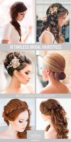 18 Timeless Bridal Hairstyles ❤ If you're still looking for a great way to wear your hair for your wedding, take a moment to consider these timeless bridal hairstyles. See more: http://www.weddingforward.com/timeless-bridal-hairstyles/ #weddings #hairstyles