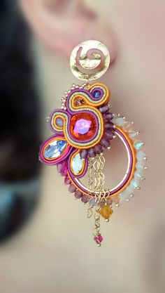 soutache earrings :)