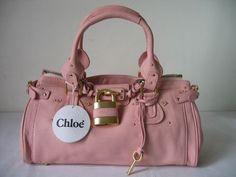 Chloe handbag Paddington With Bronze Padlock pink|Chloe handbags Replica|Fake bags