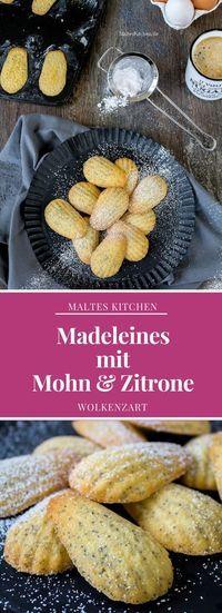 Madeleines mit Mohn & Zitrone | #Rezept von #malteskitchen