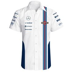 2014 Williams Martini Racing Shirt - F1plusSTORE.com Team Wear, Sport Wear, Camisa F1, Camisa Formula 1, Mens Designer Shirts, Races Outfit, Martini Racing, Uniform Design, Tee Shirt Designs