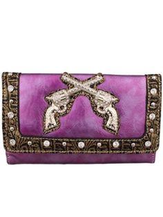 Purple Gun Wallet--yeah baby!