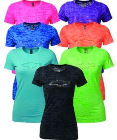Chevrolet Ladies Rhinestone Bowtie T-Shirt-Chevy Mall