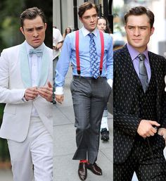 Every time the TV show, Gossip Girls, come back with new season, fashion styles that are featuring in each episode are always on topic. Chuck Bass was shown with outstanding prints on his ties and suits. Bow-ties are currently in trend also. Naye Y.
