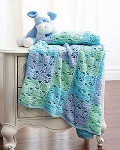 3 Color Baby Blanket free crochet pattern on Yarnspirations at http://www.yarnspirations.com/pattern/crochet/3-color-crochet-blanket