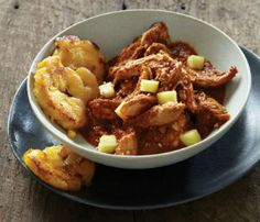 Red Mole with Chicken and Fried Plantains in the slow-cooker. So easy! Coming Home to 'The Mexican Slow Cooker' | Books for Better Living
