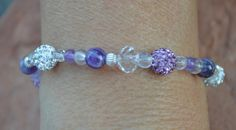 Amethyst and Sterling Silver healing Bracelet by CrystalMeB