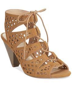 d2f75e3a4f2 G by GUESS Endell Lace-Up Sandals Shoes - Sandals   Flip Flops - Macy s