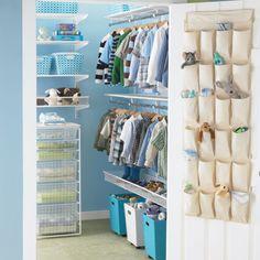 Baby Closet Organizer And How To Choose The Right One : Kid Closet Organization Ideas. Boys Closet, Closet Bedroom, Walk In Closet, Kids Bedroom, Kids Rooms, Closet Space, Master Bedroom, Elfa Closet, Closets