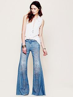 Extreme flare 70's jeans. I was totally born in the wrong decade