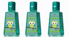 Custom Boy Baby Shower Owl Hand Sanitizer Labels by MyBabiesBreath