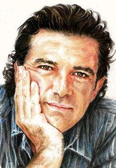 Antonio Banderas by vividec {from Italy} ~ colored pencils