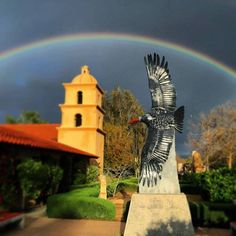 photo by Nate Shrage of rainbow over Ojai Museum