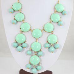 NEW Mint Green Bubble Necklace,Bib Necklace,Statement Necklace Smooth Bubble Necklace(FN343-Smooth)