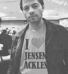 Yes, he does love Jensen Ackles!  #MishaCollins