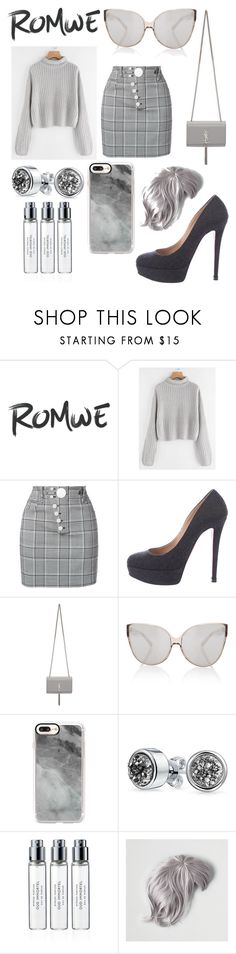 """""""Romwe contest in grey!"""" by ana-silva-386 ❤ liked on Polyvore featuring Alexander Wang, Christian Louboutin, Yves Saint Laurent, Linda Farrow, Casetify, Bling Jewelry, Byredo and American Eagle Outfitters"""