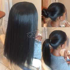 Vixen Crochet braids + Silk press + Done w/ 2 pks of definition hair  from @isis_hair_inc | @50ShadesOfJaey