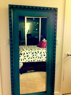 Not going to lie ~ I am loving my new duvet set via my new floor mirror....my bedroom is coming together slowly but surely! :)