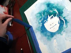 Tutorial: How to Make a Watercolor Stencil Portrait