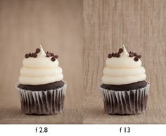 How To Choose An Aperture For Your Food Photography cupcakes side by side
