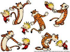 Calvin e Haroldo do genial Bill Watterson