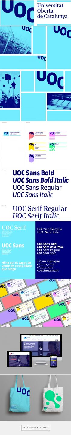 Brand New: New Logo and Identity for Universitat Oberta de Catalunya by Mucho - created via https://pinthemall.net
