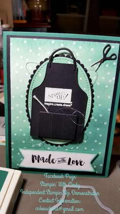 As a Stampin'Up Demonstrator, I couldn't help myself and make this card using the Apron of Love Bundle from Stampin'Up