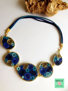 "Paper quilling Necklace ""Arabesco_01"" by QuillyPaperDesign www.facebook.com/QuillyPaperDesign"