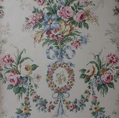 Rosies Vintage Wallpaper Vintage Rose Wallpaper Etsy
