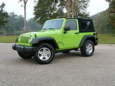 Lime Green Jeep Wrangler