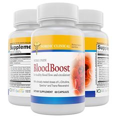 Nordic Clinicals Nitric Oxide BloodBooster 60 capsules Support Blood Flow  Nitric Oxide Productions Nitric Oxide Boosters promotes oxygen delivery to cells With Setria Glutathione  SpectraTM -- Check this awesome product by going to the link at the image.