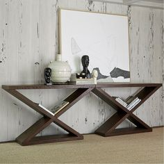 Ambella Home Collection - Salone Scuro Double-V Console Table - Recycled Furniture, New Furniture, Furniture Making, Wood Resin Table, Console Cabinet, Console Tables, High Quality Furniture, Home Collections, Entryway Tables