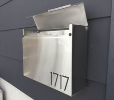 Larger Modern and contemporary mailbox  stainless steel