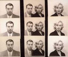 Marilyn Monroe & Joe Dimaggio, Passport Photo's.