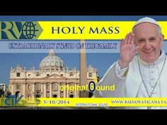 starts at 10:00 AM - Holly Mass in St Peter's Basilica for the opening of the Extraordinary Synod on the Family. Papa Francesco presiede la Messa di apertura...